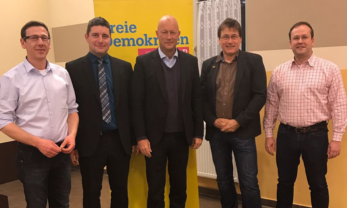 v.l. Martin Müller, Enrico Schaarschmidt, Thomas L. Kemmerich, Gerald Ullrich, Torsten Hoffmann