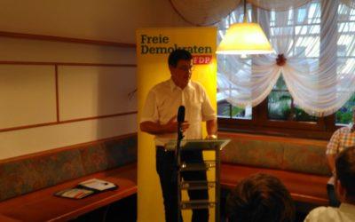 Direktkandidat Gerald Ullrich Bundestag Wahlkampf Auftakt