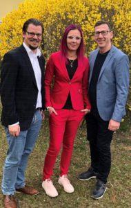 Spitzenkandidaten v.l.: Alexander Andree, Michelle Kaiser, Martin