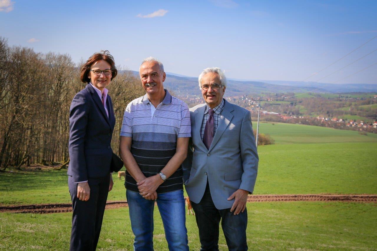Constanze Koch, Peter Fräbel und Peter Casper