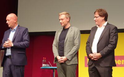 Christian Lindner unterstützt Wahlkampf in Südthüringen