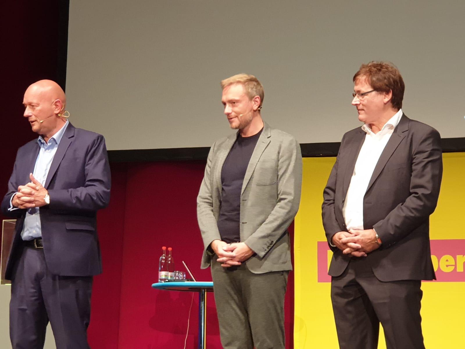 Thomas L. Kemmerich, Christian Lindner und Gerald Ullrich